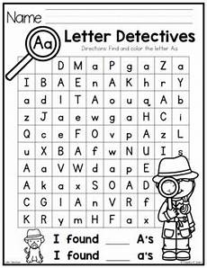 letter detectives printable a z letter searches by pocketful of centers