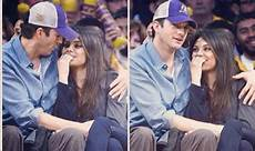 Gamis Kumis mila kunis and ashtoh kutcher cosy up at baseball