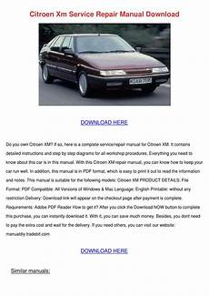 Citroen Xm Service Repair Manual By Nigelnestor
