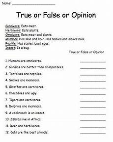 animal fact and opinion worksheets 13997 true false fact opinion animals by a s corner store tpt