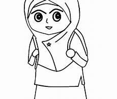 Top Gambar Kartun Muslimah Hitam Putih Top Gambar
