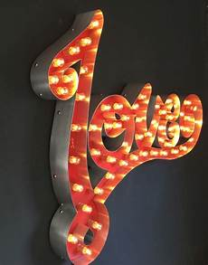 marquee light up sign love