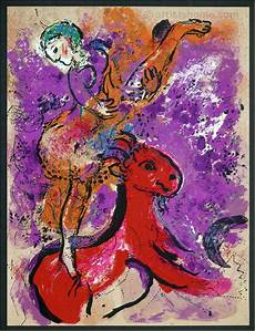 Marc Chagall Werke - marc chagall circus rider on 1957 orig