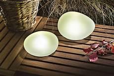 solar leuchtsteine duo 2er set echtglas satiniert led