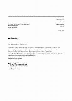 o2 kündigung faxnummer o2 vertrag k 252 ndigen muster vorlage als pdf zum ausdrucken