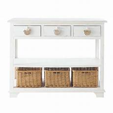 wooden console table in white w 108cm basse cour maisons
