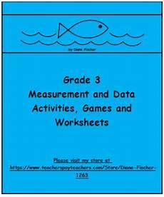 measurement and data worksheets grade 3 1407 grade 3 measurement and data activities and worksheets by diane fischer