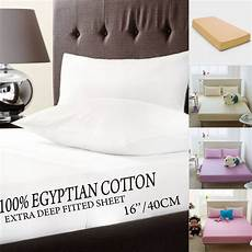 100 egyptian cotton extra deep 16 40cm fitted bed sheets 10 colours ebay