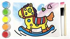 Belajar Warna Menyenangkan Mewarnai Kuda Mainan Dengan