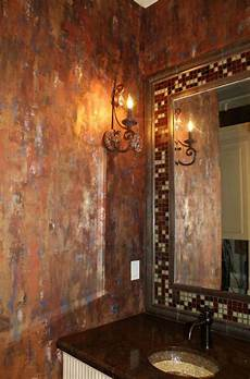 bathroom faux paint ideas copper decor project ideas on the modern masters cafe metallic plaster waterfall wall