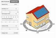 solarstromrechner f 252 r photovoltaik leistung berechnen