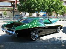 1969 Chevelle Two Tone Green Orange Black Billet 5 Spoke
