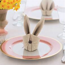 Bonkers About Buttons How To Fold Easter Bunny Rabbit Napkins