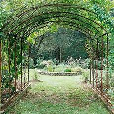 Garden Design Arch From Metal Construction Creepers