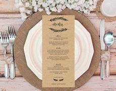 wedding menu template wedding menu printable menu