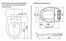 bidet dimension maro italia fp106 non electric bidet toilet seat tooaleta