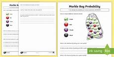 probability worksheets marbles 5837 marble bag probability worksheets differentiated worksheets