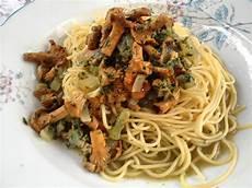 Spaghetti Mit Pfifferlingen Und Petersilienpesto Ein