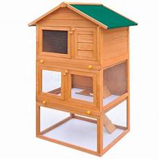outdoor rabbit hutch small animal house pet cage 3 layers