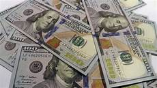 stock of us dollars closeup rotation on the