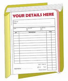 5 personalised a5 invoice receipt books 2 part ebay