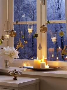 fensterdeko teelichter und weihnachtliche anh 228 nger
