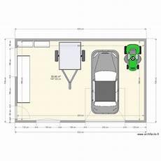 longueur garage 2 voitures plan garage 40m2 plan 1 pi 232 ce 40 m2 dessin 233 par gthiolat