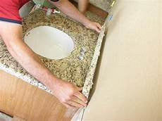 how to install granite backsplash how to install a bathroom countertop how tos diy