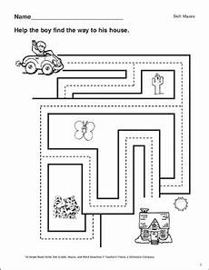 grammar maze worksheets 24882 maze boy to house printable mazes and skills sheets
