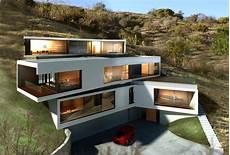 Haus Hanglage Modern - los angeles hillside modern architizer