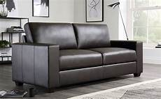 mission brown leather 3 seater sofa furniture choice