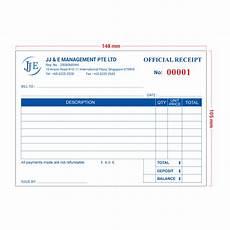 receipt book template invoice receipt book a6 100 books jj e