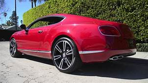 Symbolic Motors  Dragon Red Bentley GT V8 Coupe Revving