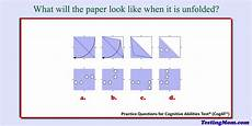 paper folding worksheets grade 5 15678 pin on cognitive abilities test or cogat 174 free practice questions