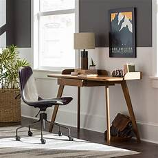 amazon home office furniture rivet mid century curved wood home office computer desk