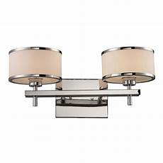 titan lighting utica 2 light polished chrome wall bath bar light tn 8012 the home depot