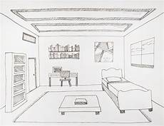 drawing a room using one point perspective