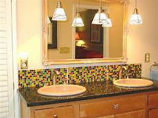 backsplash bathroom ideas colorful mosaic backsplash
