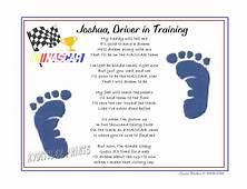 NASCAR When I Grow Up Baby Footprints Sports Poem Print