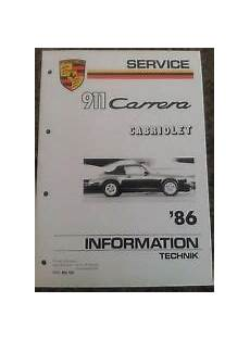 small engine repair training 1986 porsche 911 on board diagnostic system sonstige automobilia bedienungsanleitungen handb 252 cher g 252 nstig kaufen ebay
