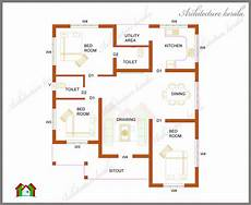 house plan kerala 3 bedrooms three bedrooms in 1200 square feet kerala house plan