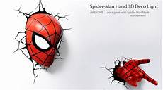 spider man mask and 3d deco lights from
