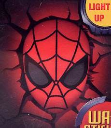 marvel avengers spider man head 3d fx deco wall led