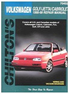 car repair manuals online free 1990 volkswagen golf auto manual volkswagen cabriolet fox golf jetta 1990 98 chilton manual hay70402