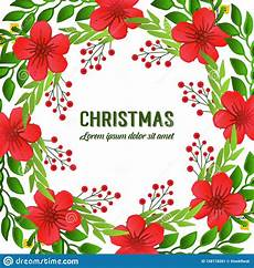 banner of merry christmas background template with texture crowd of flower frame vector