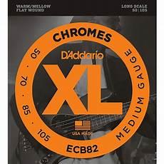 D Addario Ecb82 Chromes Flatwound Medium Bass Strings