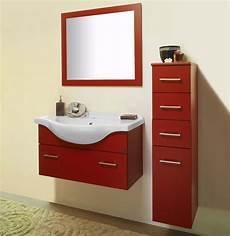 savini arredo bagno mobile sospeso cm 85 rosso savini edilceramiche di