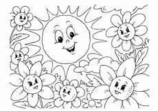 Malvorlagen Grundschule Sommer Malvorlage Sommer Kostenlose Ausmalbilder Zum Ausdrucken