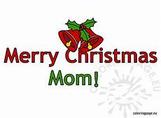 merry christmas mom text coloring page