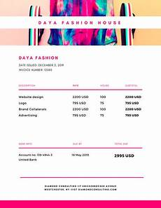 pink clothes modern fashion invoice templates by canva